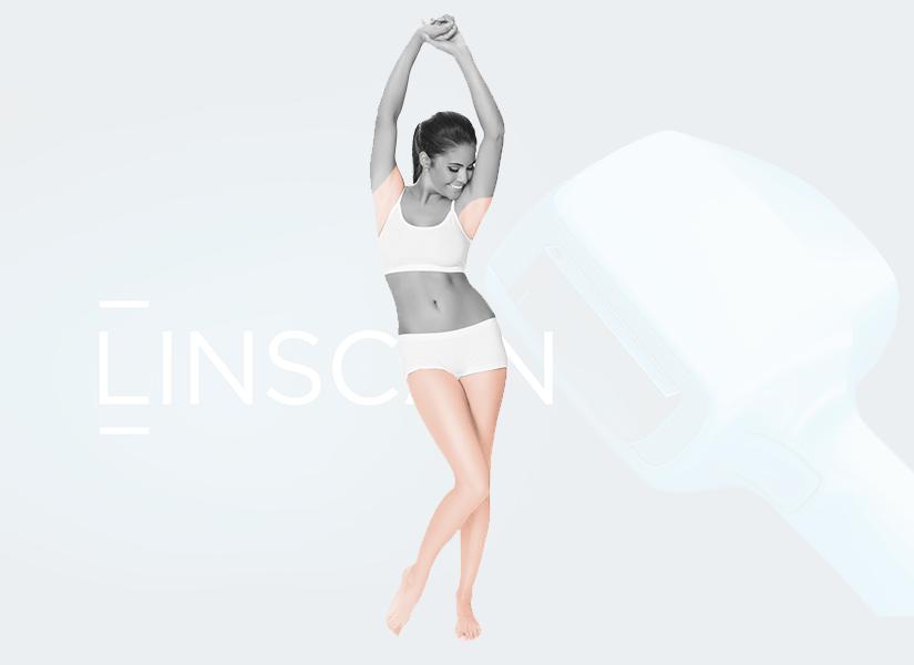 Pakiet depilacji laserowej kobieta Linscan KOMFORT