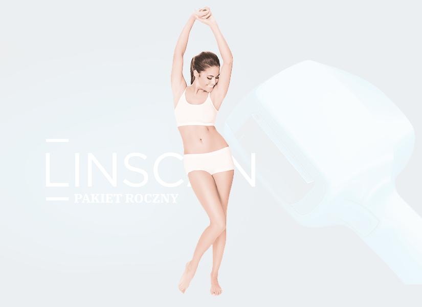 Pakiet depilacji laserowej kobieta Linscan PREMIUM pakiet roczny