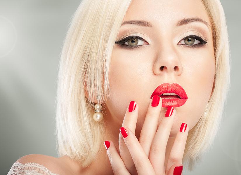 Koloryzacja 1 tonowa, modelowanie oraz manicure hybrydowy